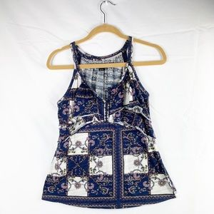 Anthropologie Deletta Paisley Print Sleeveless